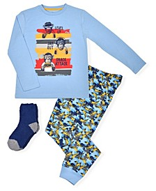 Big Boy's Top and Jogger with Cosy Socks