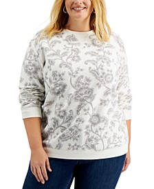 Plus Size Printed Sweatshirt, Created for Macy's