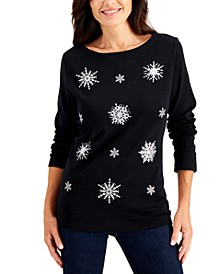 Festive Print Top, Created for Macy's