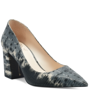 VINCE CAMUTO WOMEN'S FRITTAM POINTED-TOE BLOCK-HEEL PUMPS WOMEN'S SHOES