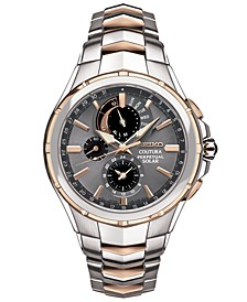 Men's Chronograph Coutura Solar Two-Tone Stainless Steel Bracelet Watch 44mm