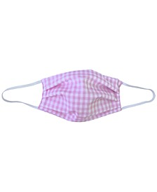 Adult Gingham-Print Pleated Cloth Face Mask