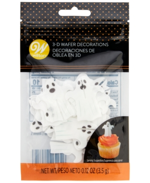 Wilton Ghost 3-d Wafer Decorations, Set of 12