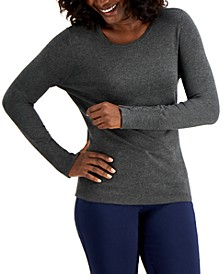 Button-Sleeve Crew-Neck Sweater, Created for Macy's