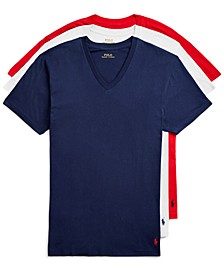 Men's 3-Pk. Classic-Fit Cotton V-Neck Undershirts