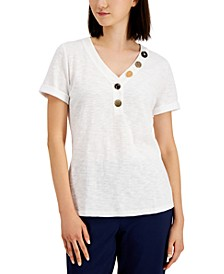 Mixed Button Top, Created for Macy's