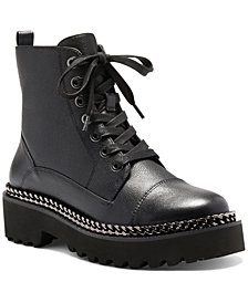 Vince Camuto Women's Mindinta Lace-Up Lug Sole Combat Booties