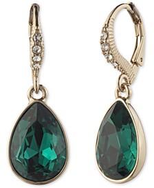 Teardrop Stone & Crystal Drop Earrings