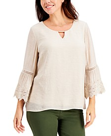 Textured Bell-Sleeve Top, Created for Macy's