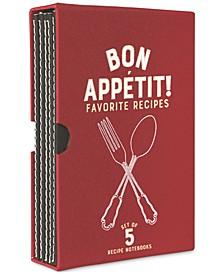 """Bon Appetit"" Recipe Notebook Set"