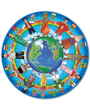 Melissa and Doug Kids Toy Children Around the World 48Piece Floor Puzzle