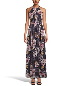 INC Floral-Print Halter-Neck Maxi Dress, Created for Macy's