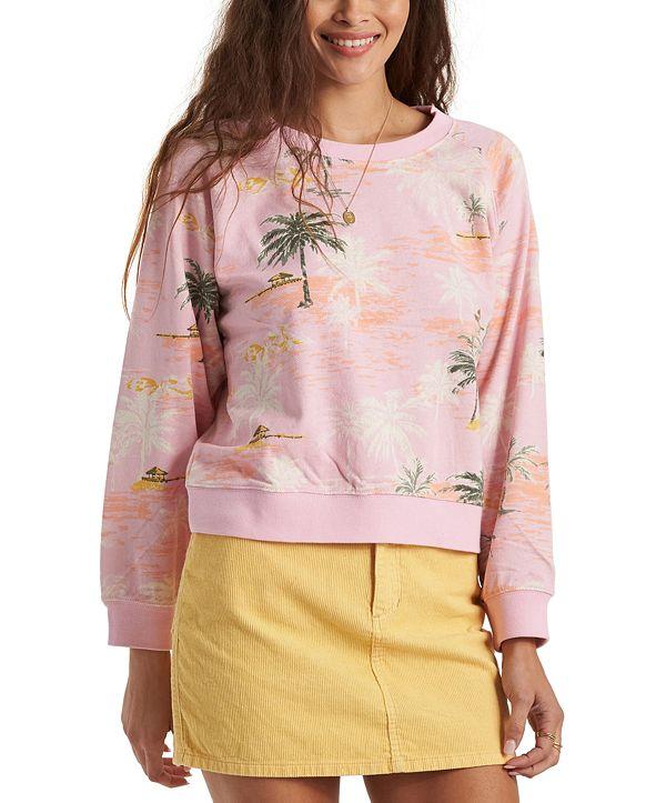 Billabong Juniors' Sun-Shrunk Printed Pullover Sweatshirt