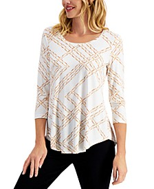 Chain-Print Top, Created for Macy's