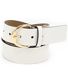 38 MM Pebble Leather Belt