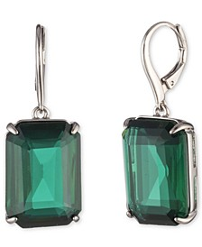 Stone Square Drop Earrings