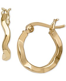 Wavy Hoop Earrings in 18k Gold-Plated Sterling Silver, Created for Macy's