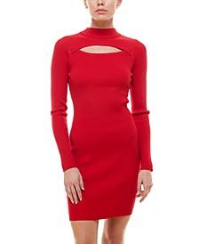 Juniors' Cutout Sweater Dress