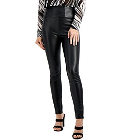 Mirin Corset Faux-Leather Leggings