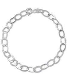 Large Oval Link Chain Bracelet in Sterling Silver, Created for Macy's