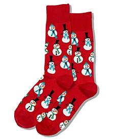Men's Snowmen Crew Socks
