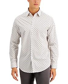 Men's Saboni Tile Print Shirt, Created for Macy's