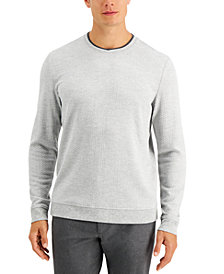 Tasso Elba Men's Crossover Textured Sweater, Created for Macy's