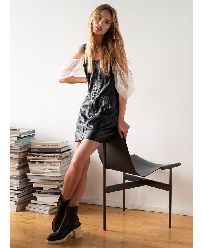Free People - Johnny Vegan Faux-Leather Dress