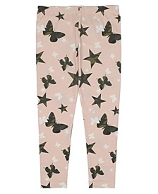 Toddler Girls Camo Butterfly and Star Print Mix and Match Knit Legging