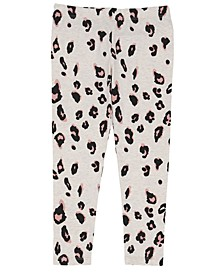 Toddler Girls All Over Sassy Leopard Print Mix and Match Knit Legging