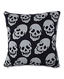 "Glitzy Skulls 18"" x 18"" Decorative Pillow"