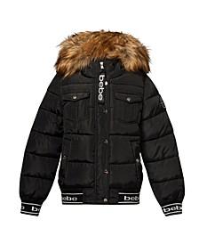 Women's Rib Logo Bottom Puffer Jacket (37% Off) -- Comparable Value $79
