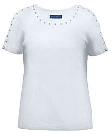 Cotton Studded T-Shirt, Created for Macy's
