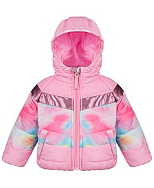 Baby Girls Tie-Dye Colorblocked Coat