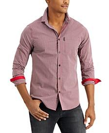Micro Vichy Button Up Shirt
