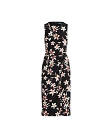 Floral Jersey Sleeveless Dress