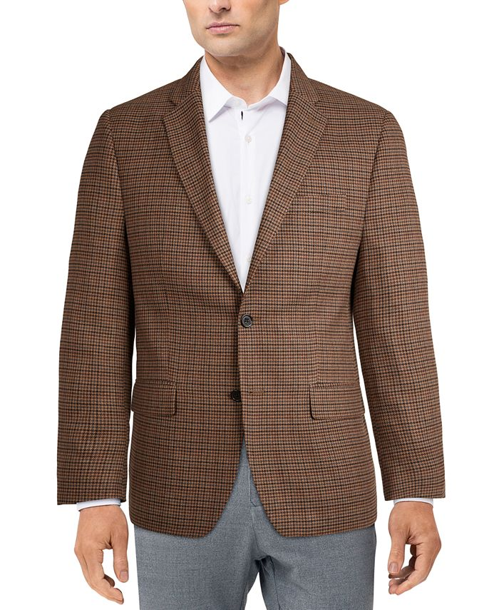 Lauren Ralph Lauren - Men's Classic-Fit Ultraflex Stretch Brown Houndstooth Check Sport Coat