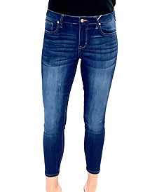 Juniors' Mid Rise Skinny Jeans