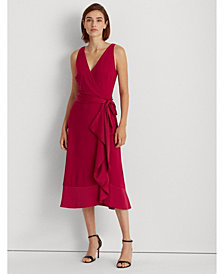Lauren Ralph Lauren Party Ruffle-Trim Jersey Dress