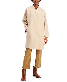 V-Neck Wool Coat