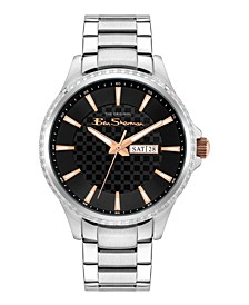 Men's Classic Silver-Tone Stainless Steel Watch, 43mm