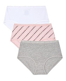 Big Girls Diagonal Logo Hipster Underwear, 3 Pack