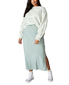 Trendy Plus Size 90s Slip Skirt