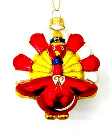 Thanksgiving Day Parade Glass Turkey Ornament, Created for Macy's