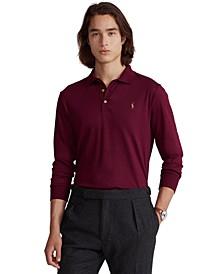Men's Big & Tall Soft Cotton Long-Sleeve Polo