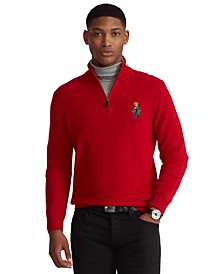 Men's Polo Bear Quarter-Zip Sweater