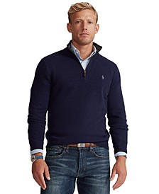 Men's Cashmere Blend Quarter-Zip Sweater