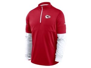 Nike Kansas City Chiefs Men's Sideline Half Zip Therma Top