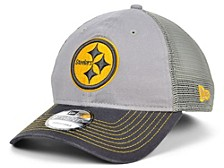 Pittsburgh Steelers Gray Pop Trucker 9TWENTY Cap