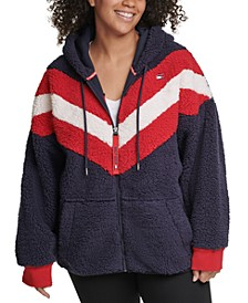 Plus Size Fleece Zip-Up Hoodie